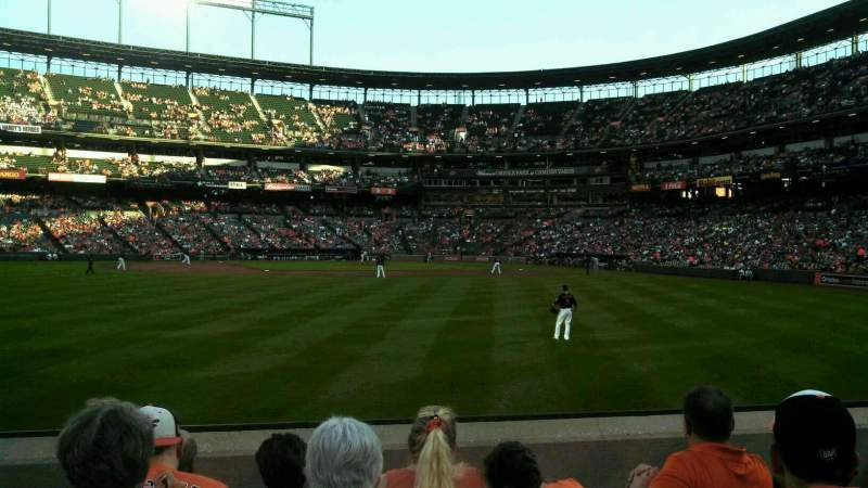 Seating view for Oriole Park at Camden Yards Section 84 Row 6 Seat 7