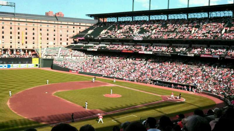 Seating view for Oriole Park at Camden Yards Section 256 Row 8 Seat 9
