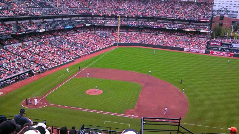 Seating view for Oriole Park at Camden Yards Section 322 Row 15 Seat 1