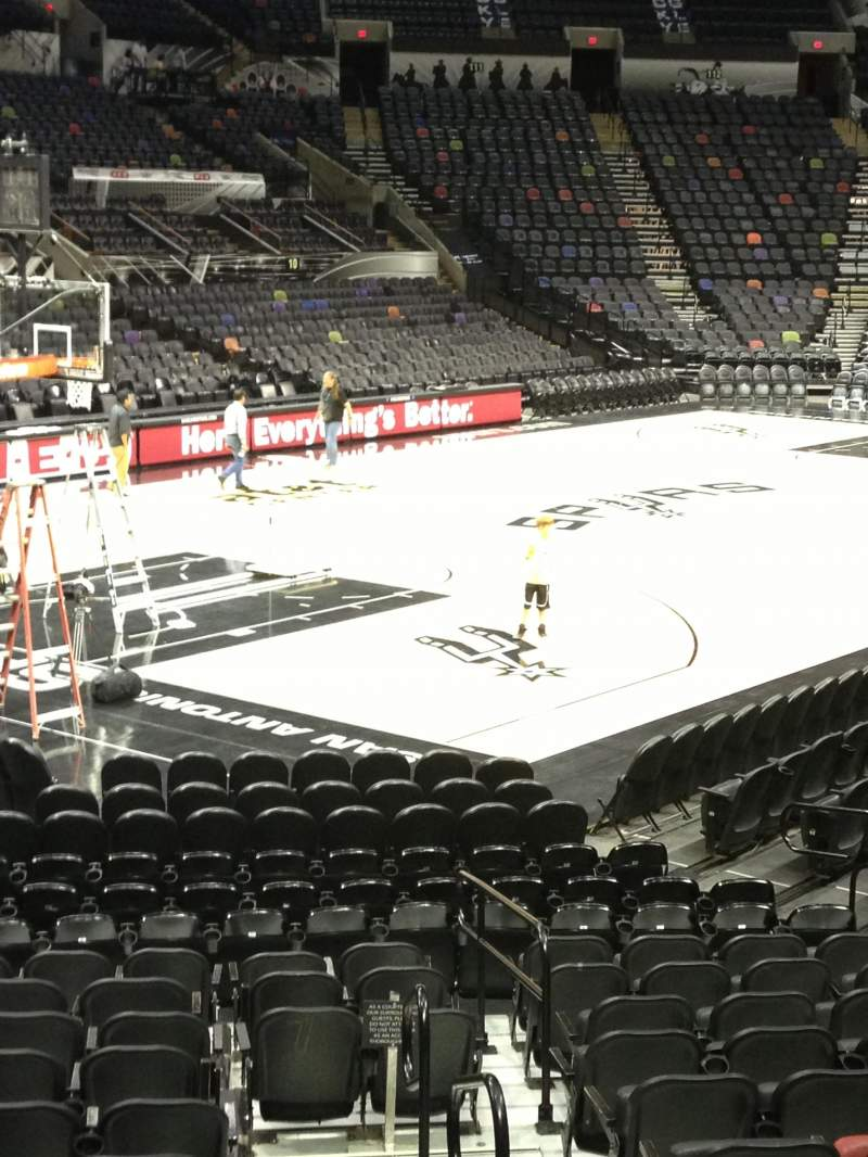 Seating view for AT&T Center Section 126 Row 19 Seat 1 and 2
