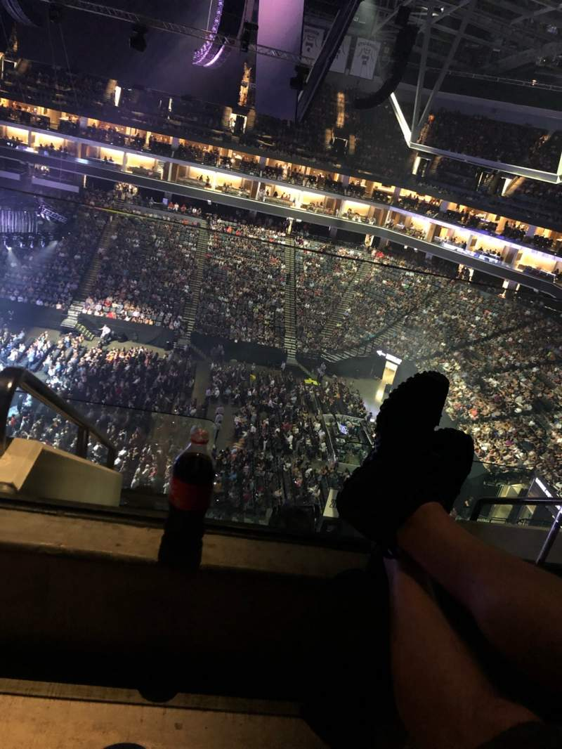 Seating view for Golden 1 Center Section 217 Row G Seat 24