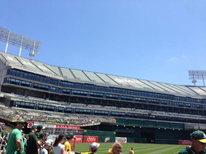 Seating view for Oakland Alameda Coliseum Section 126 Row 4 Seat 3