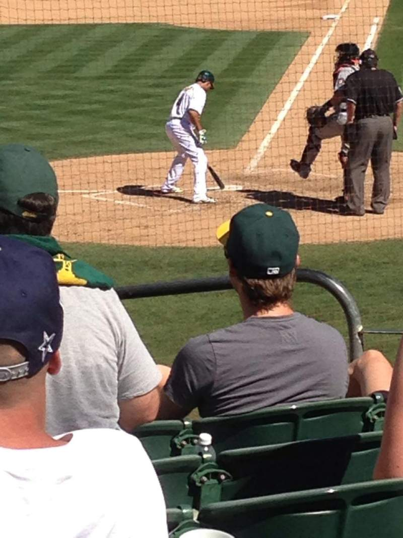 Seating view for Oakland Alameda Coliseum Section 119 Row 22 Seat 7