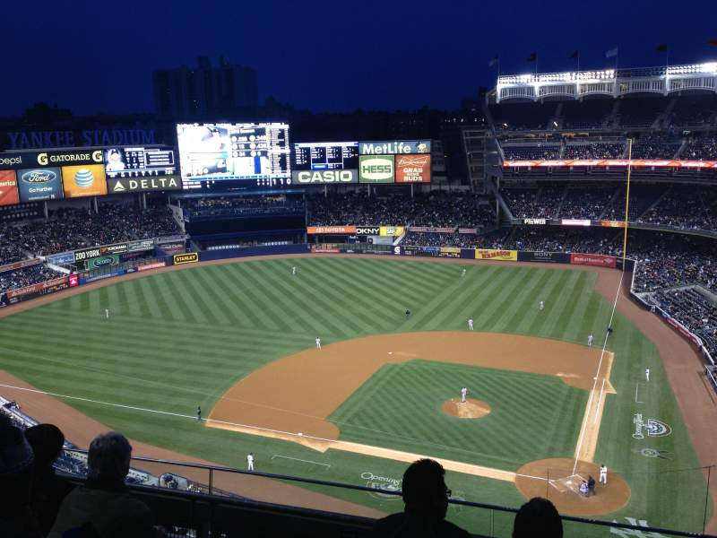 Seating view for Yankee Stadium Section 422 Row 4 Seat 6