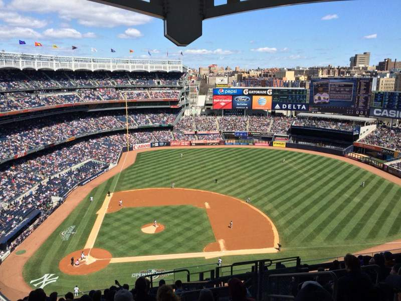 Seating view for Yankee Stadium Section 417 Row 12 Seat 6
