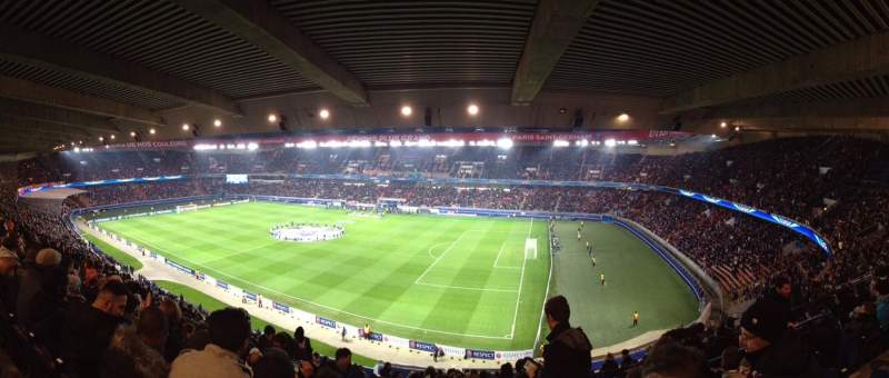 Seating view for Parc des Princes Section 407 Row 21 Seat 38