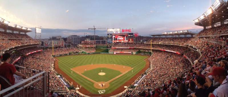 Seating view for Nationals Park Section 314