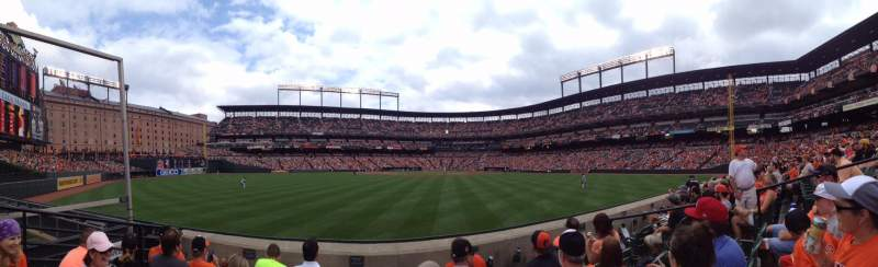 Seating view for Oriole Park at Camden Yards Section 86 Row 4 Seat 6