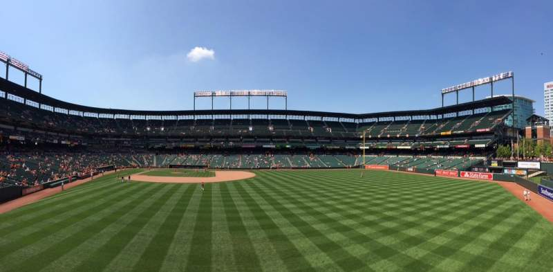 Seating view for Oriole Park at Camden Yards Section Standing Room Only