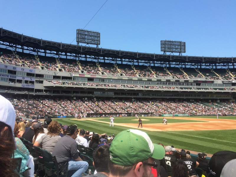 Seating view for U.S. Cellular Field Section 117 Row 11 Seat 4