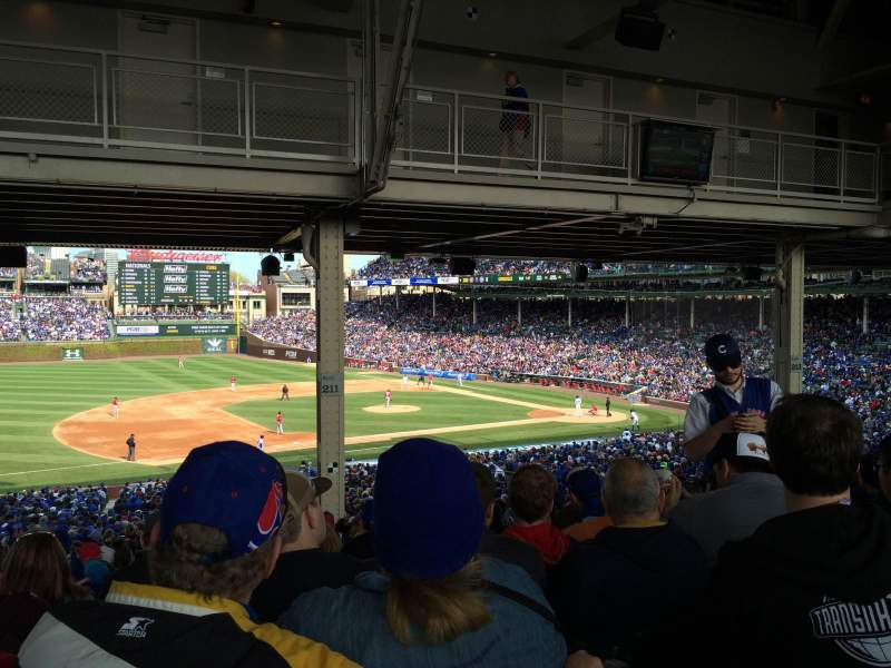 Seating view for Wrigley Field Section 211 Row 20 Seat 10
