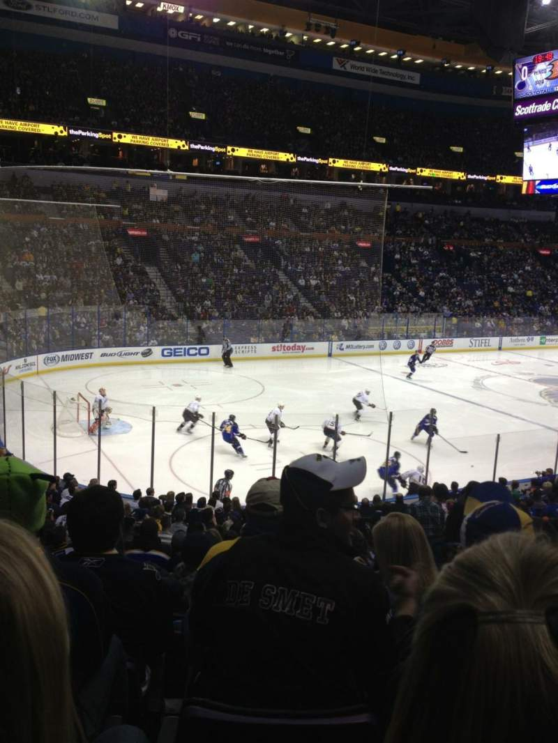 Seating view for Scottrade Center Section 106 Row V Seat 5