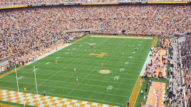 Seating view for Neyland Stadium Section JJ Row 7 Seat 6