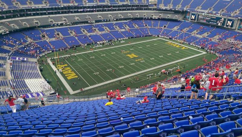 Seating view for M&T Bank Stadium Section 505 Row 31 Seat 13