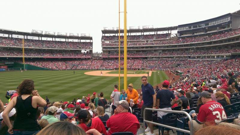 Seating view for Nationals Park Section 106 Row Z Seat 4