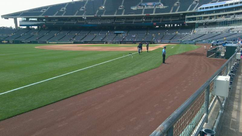 Seating view for Kauffman Stadium Section 112 Row C Seat 7
