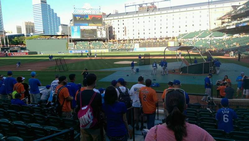 Seating view for Oriole Park at Camden Yards Section 46 Row 11 Seat 5