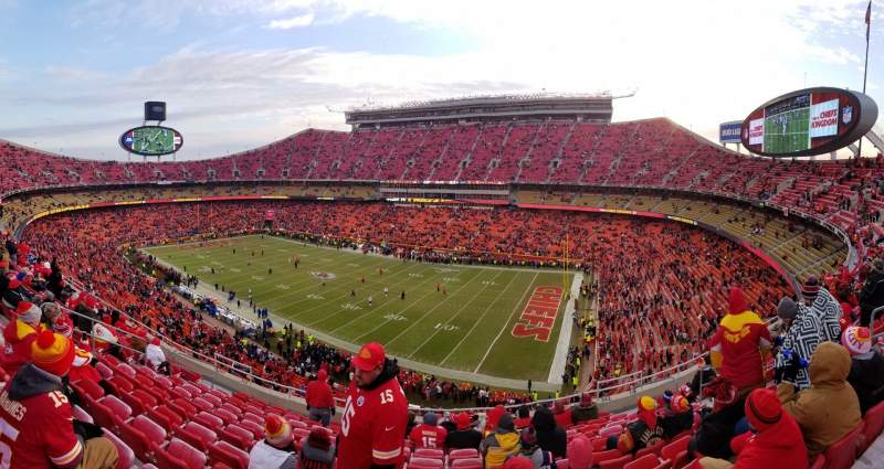 Seating view for Arrowhead Stadium Section 342 Row 11 Seat 8