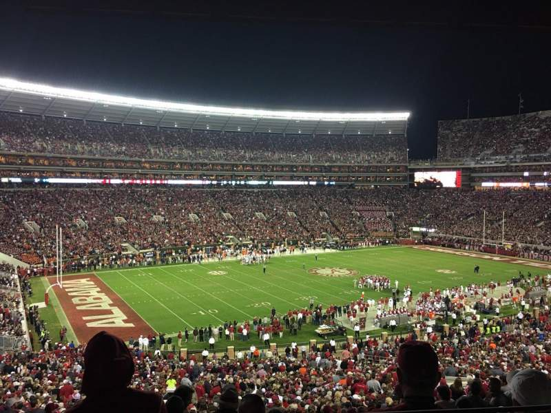 Seating view for Bryant-Denny Stadium Section U1-P Row 2 Seat 13