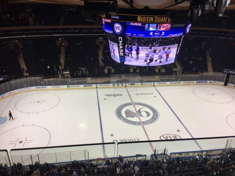 Seating view for Madison Square Garden Section 312 Row 2 Seat 1