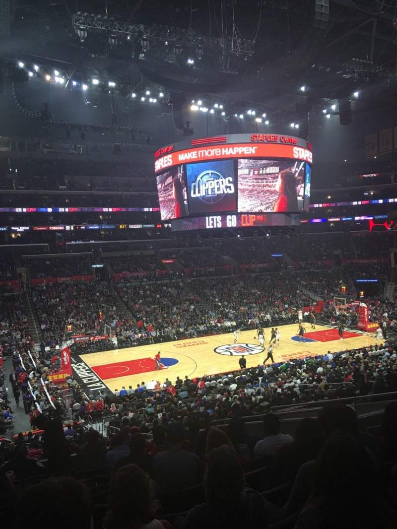 Seating view for Staples Center Section PR7 Row 12 Seat 9