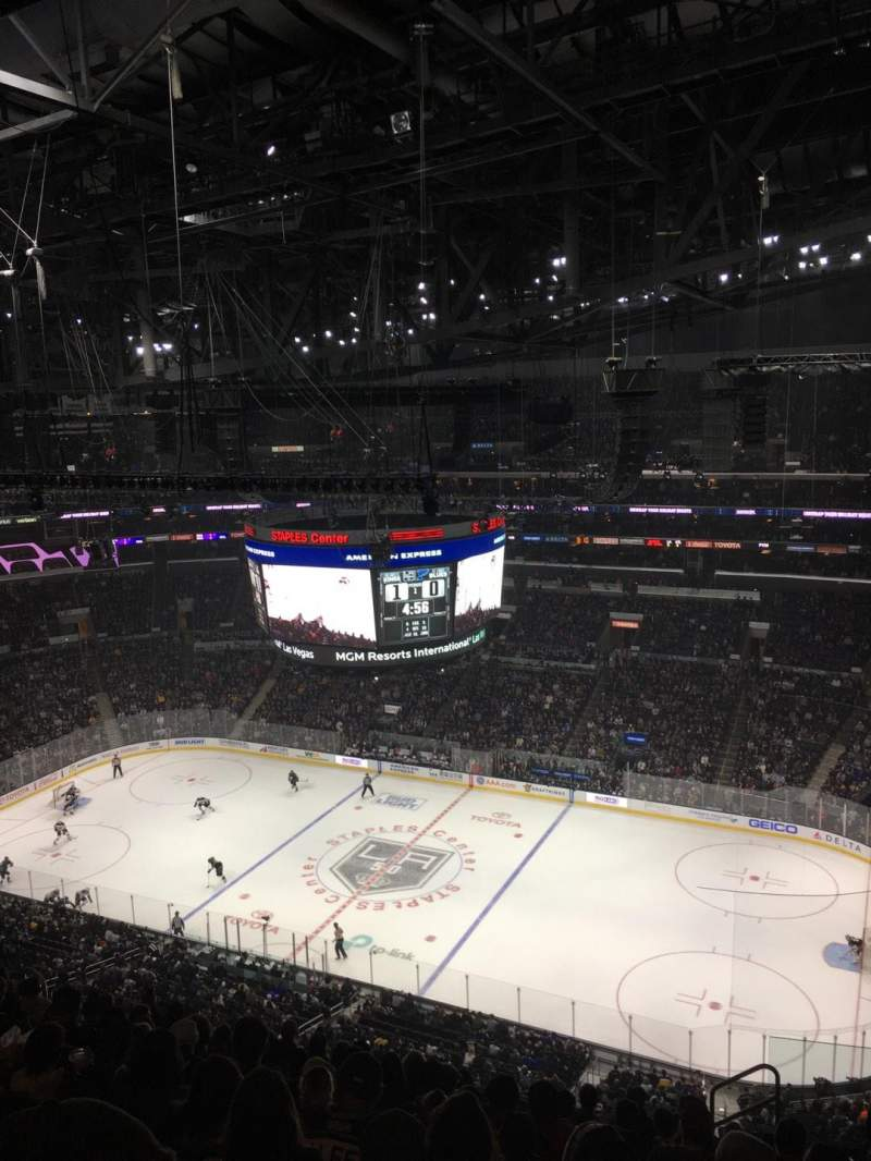 Seating view for Staples Center Section 316 Row 12 Seat 5