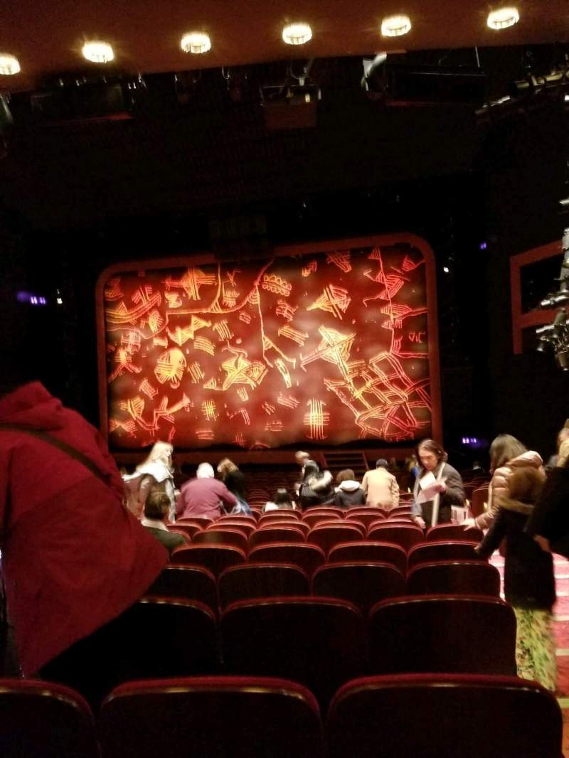Seating view for Minskoff Theatre Section Orchestra C Row X Seat 130