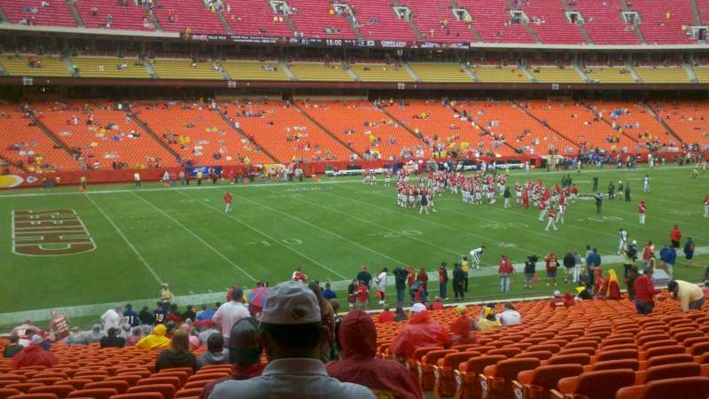 Seating view for Arrowhead Stadium Section 123 Row 30 Seat 3