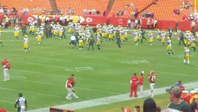 Seating view for Arrowhead Stadium Section 120