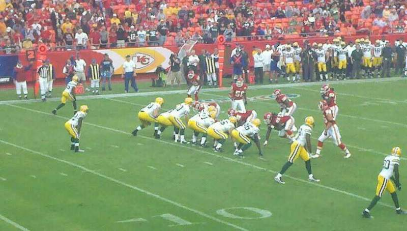 Seating view for Arrowhead Stadium Section 122