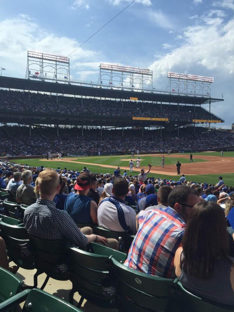 Seating view for Wrigley Field Section 135 Row 12 Seat 106