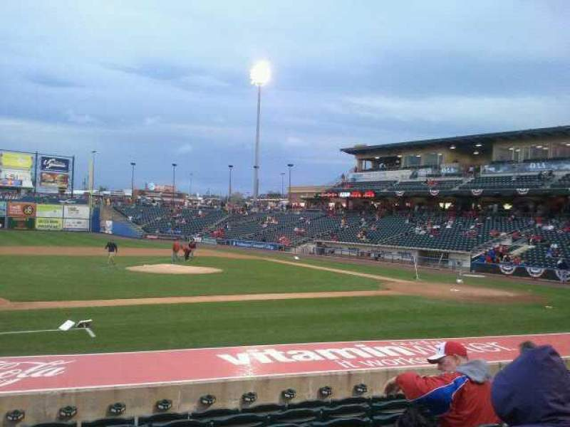 Seating view for Coca-Cola Park Section 117 Row M Seat 16