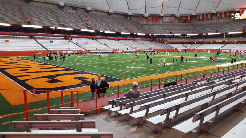 Seating view for Carrier Dome Section 105 Row i Seat 9