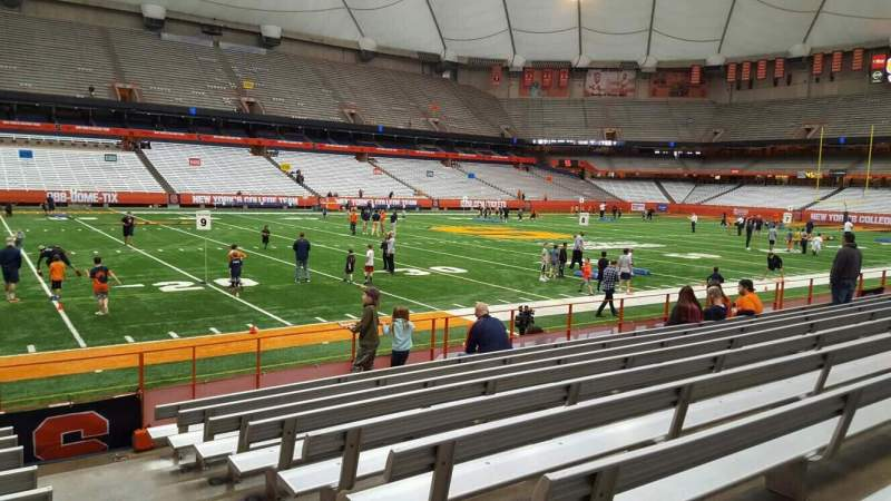 Seating view for Carrier Dome Section 103 Row i Seat 1