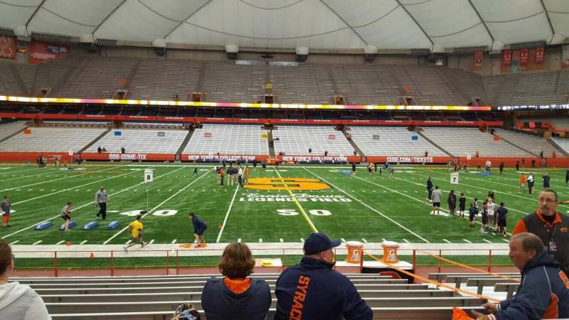 Seating view for Carrier Dome Section 101 Row l Seat 6