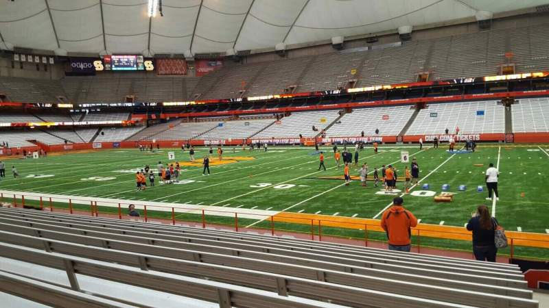 Seating view for Carrier Dome Section 129 Row l Seat 1