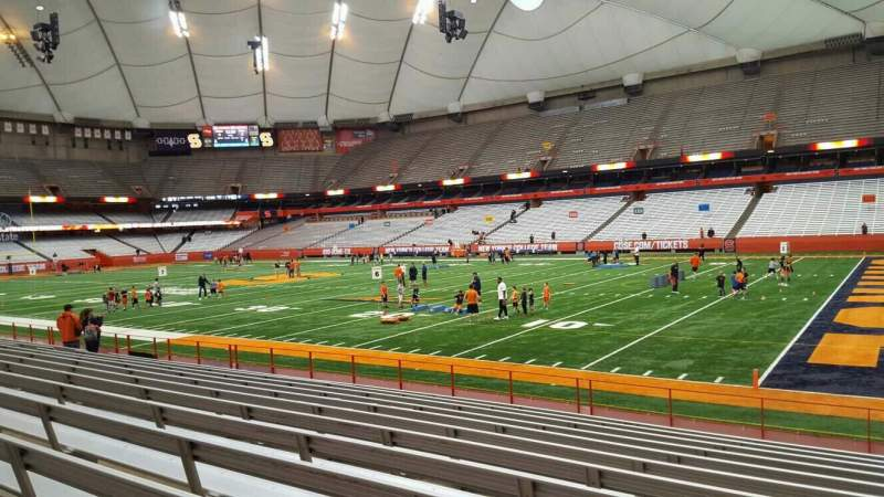 Seating view for Carrier Dome Section 128 Row l Seat 1