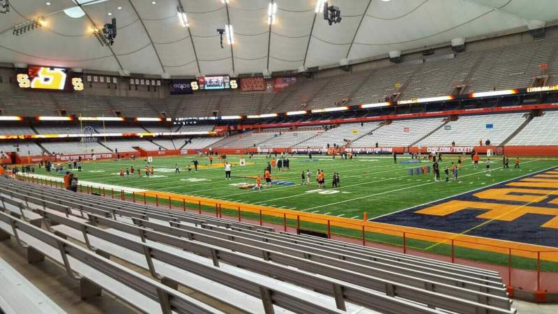 Seating view for Carrier Dome Section 127 Row l Seat 5