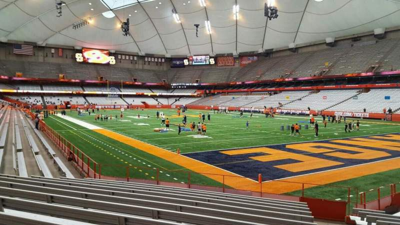 Seating view for Carrier Dome Section 126 Row l Seat 1