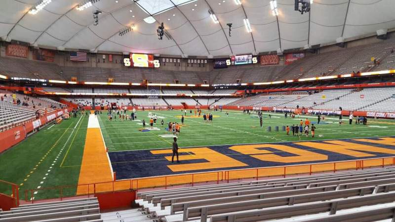 Seating view for Carrier Dome Section 125 Row l Seat 1