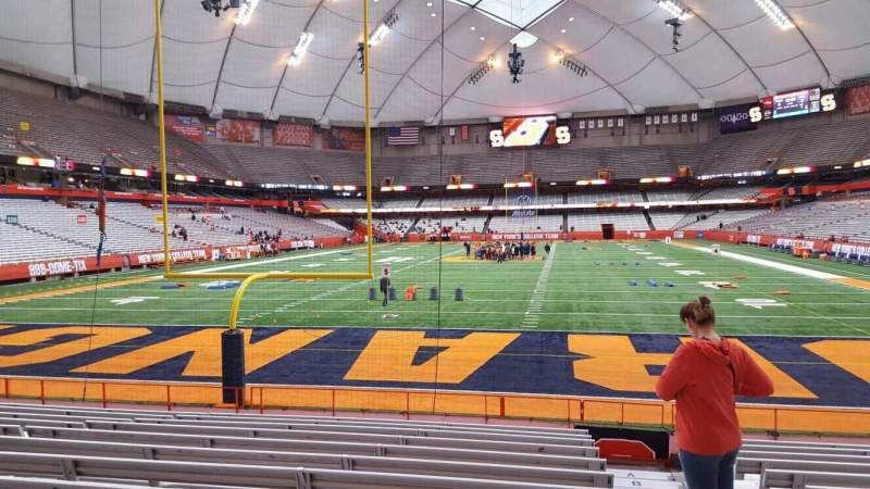 Seating view for Carrier Dome Section 123 Row l Seat 1