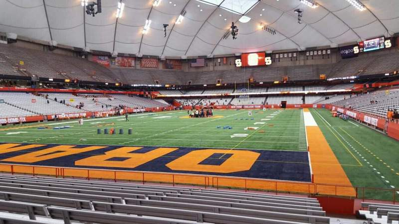 Seating view for Carrier Dome Section 122 Row l Seat 1