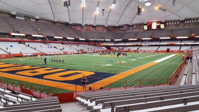 Seating view for Carrier Dome Section 121 Row l Seat 1
