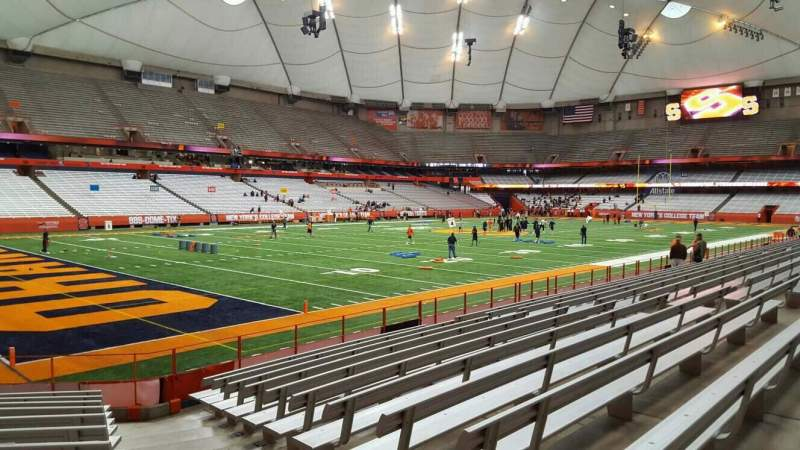 Seating view for Carrier Dome Section 120 Row l Seat 5