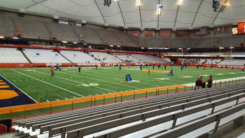 Seating view for Carrier Dome Section 119 Row l Seat 1