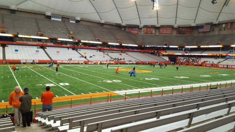Seating view for Carrier Dome Section 118 Row l Seat 1