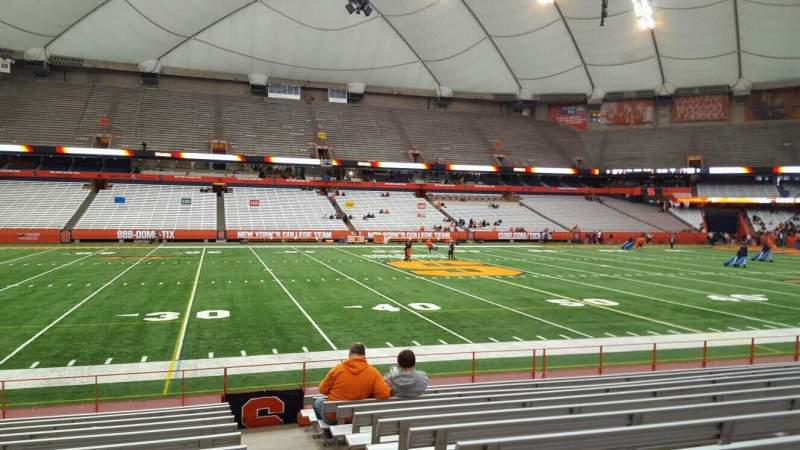 Seating view for Carrier Dome Section 117 Row l Seat 1