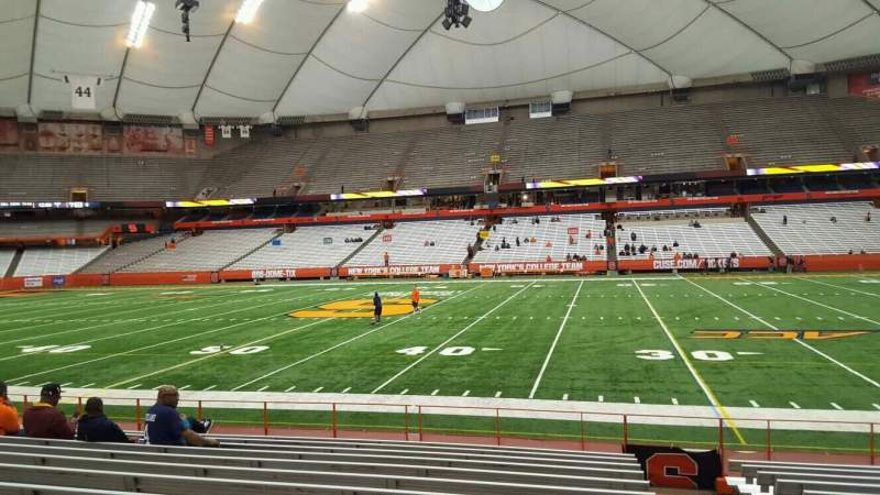 Seating view for Carrier Dome Section 115 Row l Seat 1