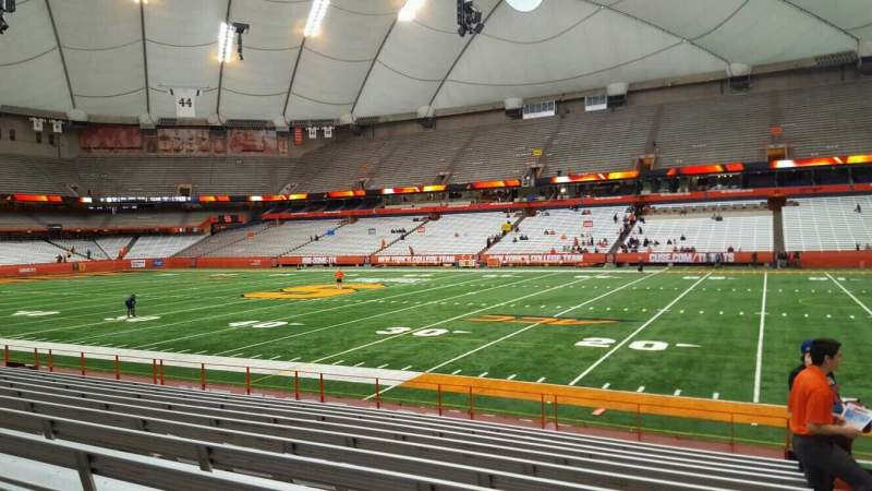 Seating view for Carrier Dome Section 114 Row l Seat 1