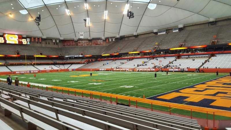 Seating view for Carrier Dome Section 112 Row l Seat 5